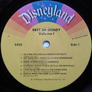 Best of Disney Volume 1 Side 1