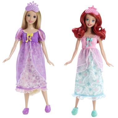 File:Disney Princess Royal Slumber Party Ariel and Rapunzel Dolls.jpg