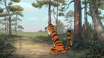 Tigger bounceing out of sight