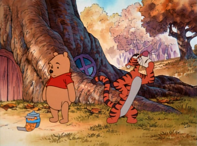File:Tigger is going to bounce up and get Piglet down.png