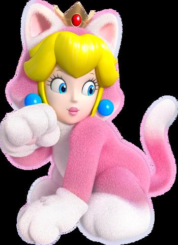 File:Cat Princess Peach Artwork - Super Mario 3D World.png
