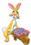 Rabbit-wheelbarrel-flowers