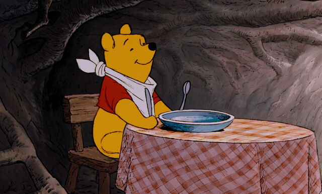 File:Winnie the Pooh is getting ready to eat some honey.jpg