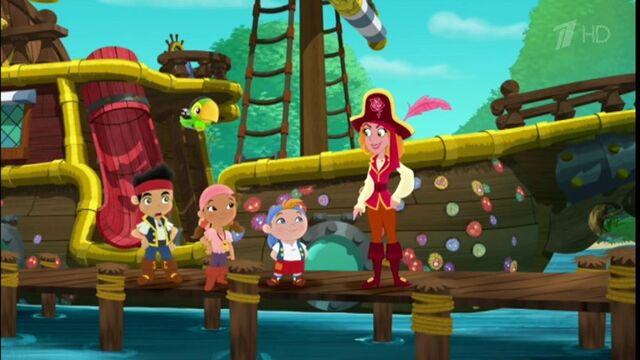 File:Jake & crew with Red Jessica- A Bad Case of the Barnacles!.jpg