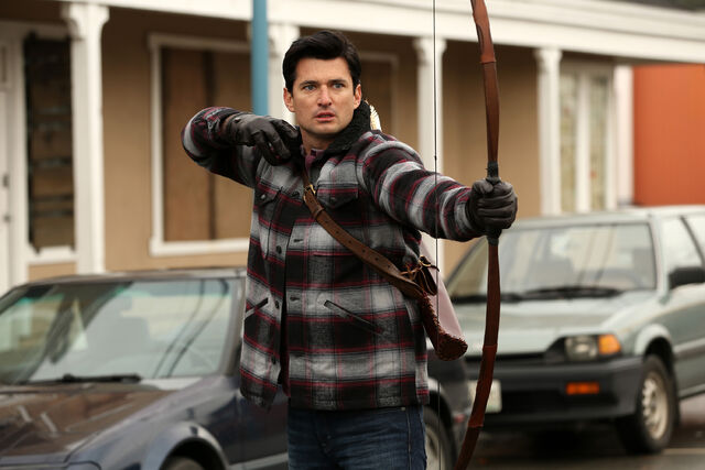 File:Once Upon a Time - 5x17 - Her Handsome Hero - Publicity Images - Gaston Shooting 3.jpg
