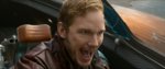 Starlord laughing in the cockpit