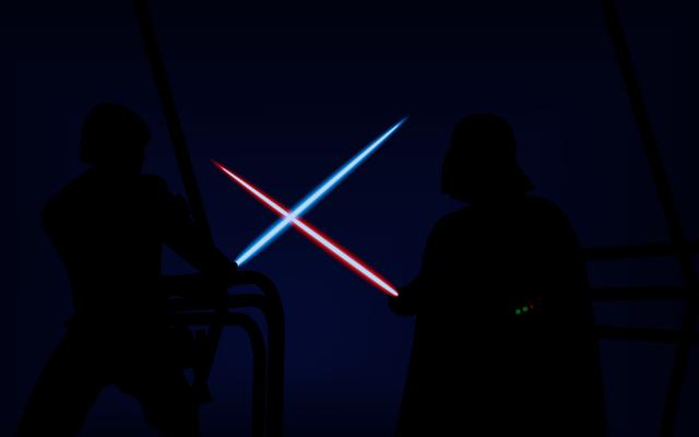 File:Luke Skywalker VS Darth Vader Artwork.png