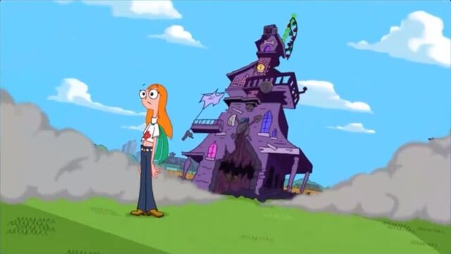 File:The haunted house lands behind Candace.jpg