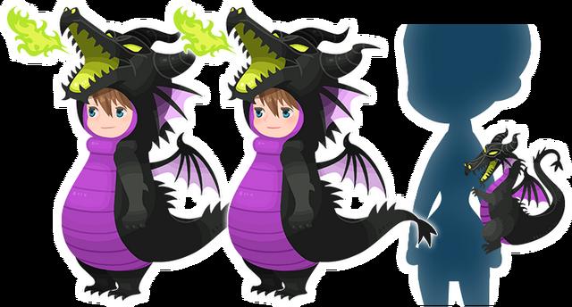 File:Maleficent Costume Kingdom Hearts χ.png