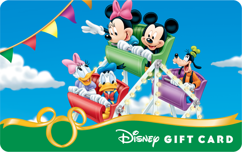 Image - Mickey and Friends in the Carosel Disney Gift Card.png ...