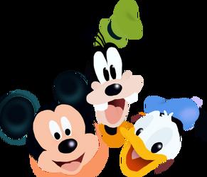 Mickey Donald and Goofy Toystoryfan artwork