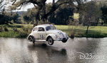 Herbie skips across the water