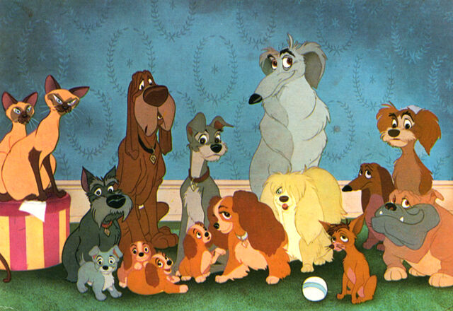File:Lady and the Tramp book family photo.jpg