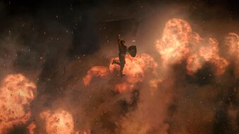 Cap explosion