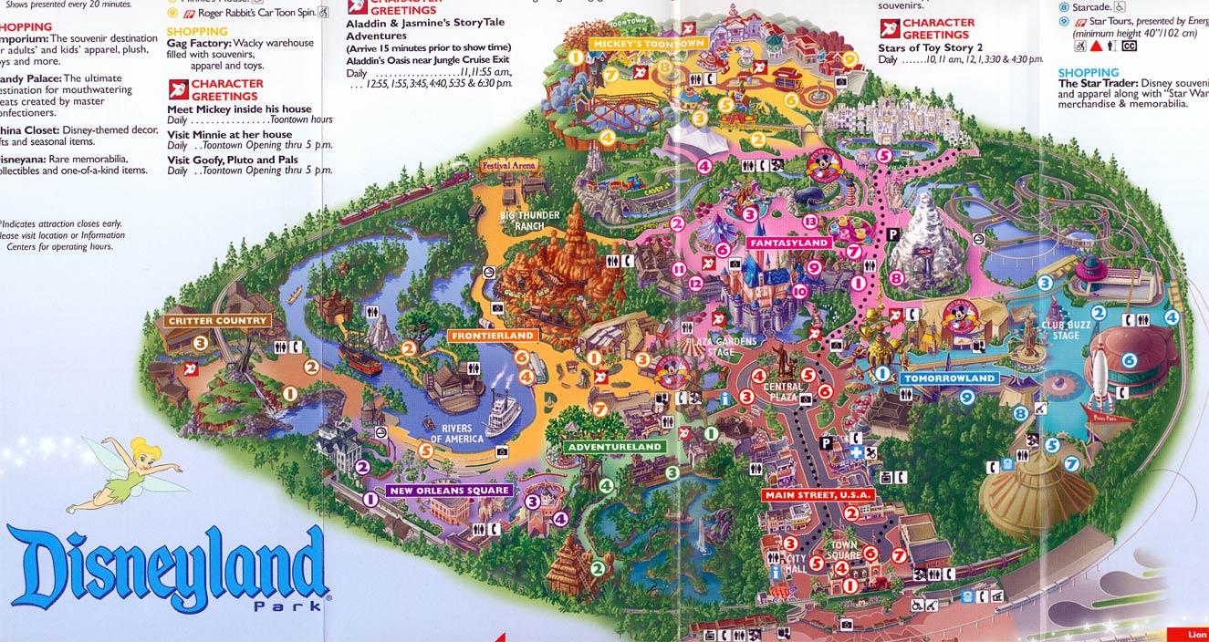 disneyland maps gallery disney wiki fandom powered by wikia