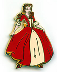 Belle christmas dress pin