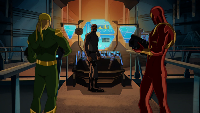 File:Ultimate Iron Fist Iron Spider Nick Fury USMWW 1.png