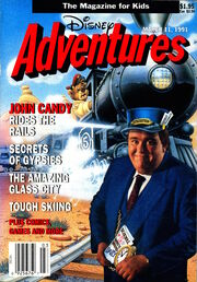 Disney Adventures Magazine cover March 11 1991 John Candy
