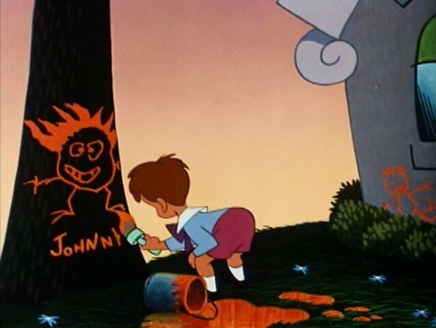 File:Johnny painting his name on a tree.jpeg
