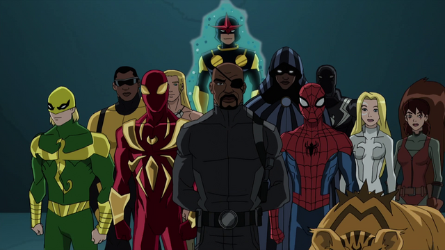 File:Nick Fury with Spider-Man New Warriors USMWW.png