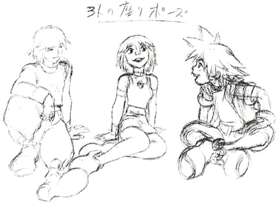 File:Sora, Kairi, and Riku (Concept Art).png