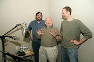 Ed Asner behind the scenes of Up