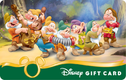 Snow White and The Seven Dwarfs Doc Sneezy Happy Bashful Dopey Sleepy and Grumpy Disney Gift Card