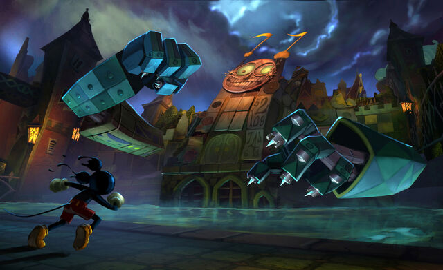 File:Epic Mickey Clock Tower Concept Art.jpg