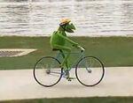 Kermit bike Muppets on Wheels