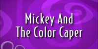 Mickey and the Color Caper