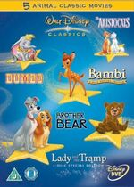 Walt Disney Classics 5 Animal Classic Movies Box Set UK DVD