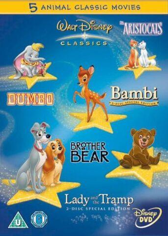 File:Walt Disney Classics 5 Animal Classic Movies Box Set UK DVD.jpg