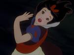 Snow White twirling around.