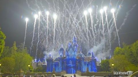 (Excellent Castle View) Disneyland Forever Fireworks - 60th Diamond Celebration
