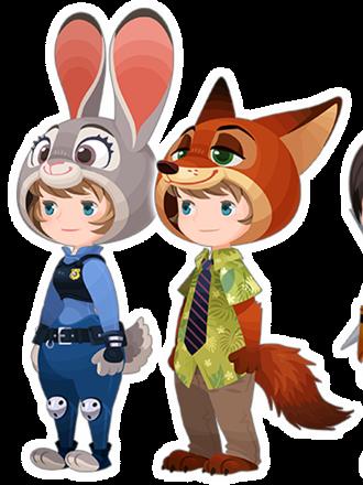 File:Judy Hopps & Nick Wilde Costume Kingdom Hearts χ.png