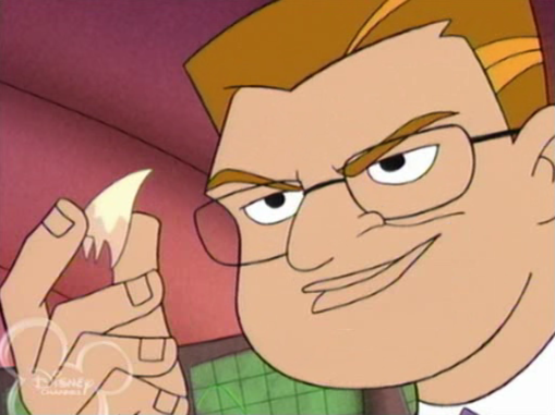 File:S1E5 - Dr Diente holding Haley's tooth.png