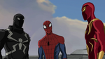 Iron Spider and Spider-Man and Agent Venom