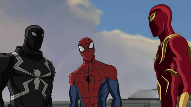 File:Iron Spider and Spider-Man and Agent Venom.png
