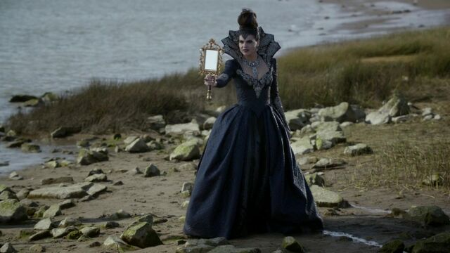 File:Once Upon a Time - 6x08 - I'll Be Your Mirror - Queen with Mirror 2.jpg
