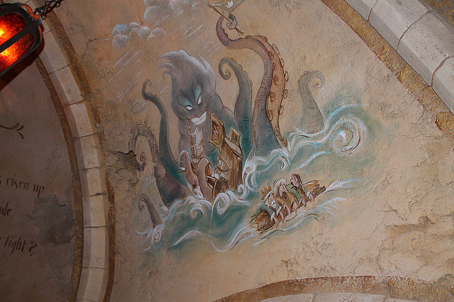 File:Ursula in the queue for Under the Sea Journey of the Little Mermaid.jpg
