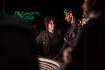 Felicity Jones on the set of Rogue One 4