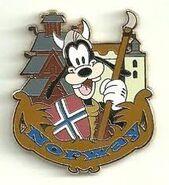 Norway Goofy Pin
