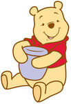 Pooh with honey