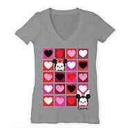 Mickey and Minnie Heart Squares Tsum Tsum T Shirt