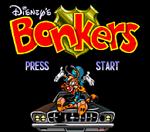 Bonkers (SNES) - Title Screen
