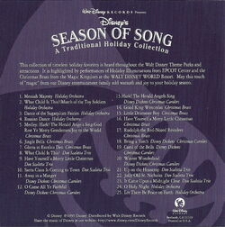 Season of song traditional holiday collection back cover