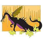 DisneyShopping.com - Jumbo Maleficent Dragon with Yellow Background