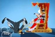 Queen bops Goofy