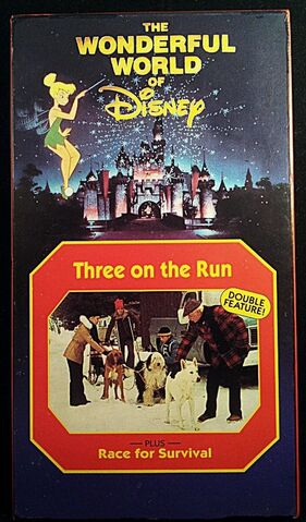 File:Wonderful World of Disney - Three on the Run-Race for Survival VHS - Front.JPG