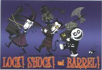 Nightmare before christmas sticker lock shock and barrel